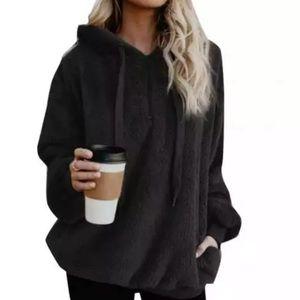 Black soft hoodie/sweatshirt
